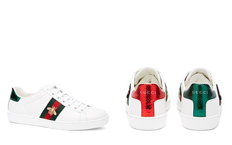 Gucci Women's New Ace Leather Lace Up Sneakers - Bloomingdale's_2