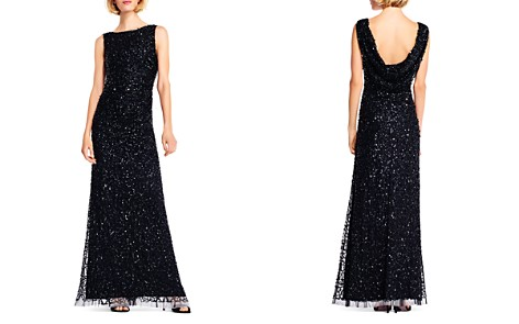 Adrianna Papell Sequined Drape-Back Gown - Bloomingdale's_2