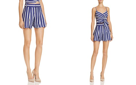 Alice + Olivia Scarlet Pleated Striped Shorts - Bloomingdale's_2