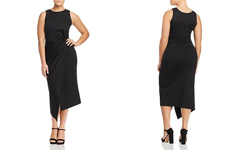 Love Ady Plus Knot-Front Asymmetric Midi Dress - 100% Exclusive - Bloomingdale's_2
