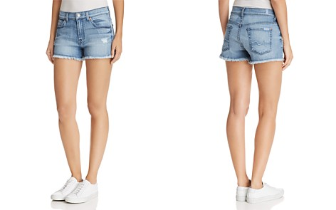 7 For All Mankind Cutoff Denim Shorts in Paradise Sky - 100% Exclusive - Bloomingdale's_2
