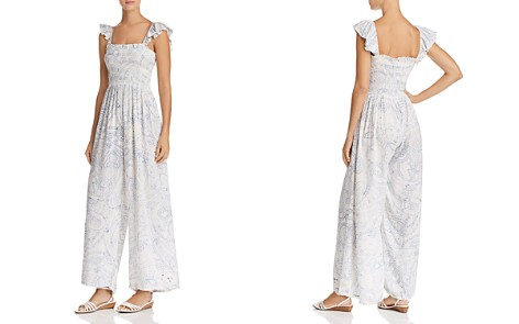 AQUA Smocked Paisley Jumpsuit - 100% Exclusive - Bloomingdale's_2