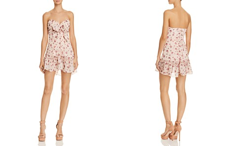 The East Order Lila Ruched Floral-Print Mini Dress - Bloomingdale's_2