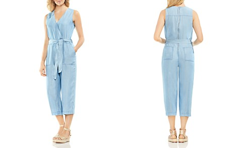VINCE CAMUTO Chambray Cropped Jumpsuit - Bloomingdale's_2