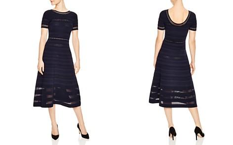 Sandro Roselle Mesh & Eyelet Inset Midi Dress - Bloomingdale's_2