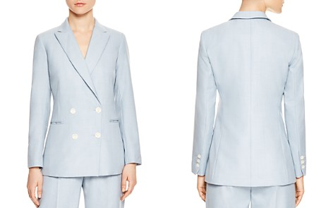 Sandro Elvi Double-Breasted Blazer - Bloomingdale's_2