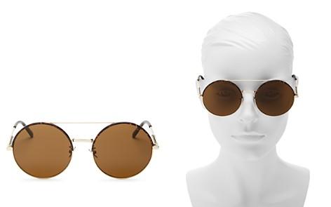 Bottega Veneta Brow Bar Round Sunglasses, 56mm - Bloomingdale's_2
