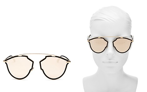 Dior Women's Sorealrise Mirrored Brow Bar Round Sunglasses, 55mm - Bloomingdale's_2