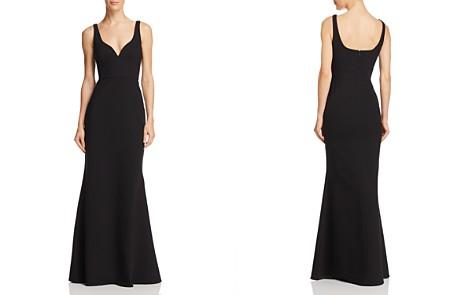 AQUA Scuba Crepe Gown - 100% Exclusive - Bloomingdale's_2