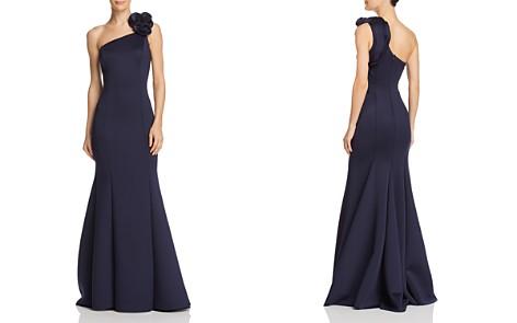 AQUA One-Shoulder Scuba Gown - 100% Exclusive - Bloomingdale's_2