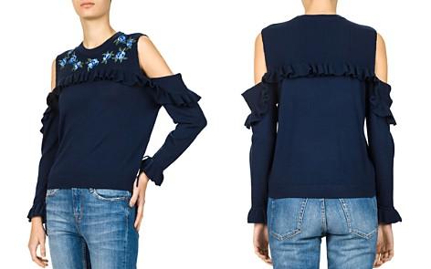 The Kooples Ruffled Cold-Shoulder Sweater - Bloomingdale's_2