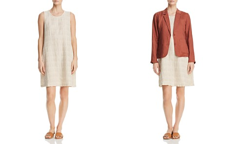 Eileen Fisher Petites Crinkle-Texture Shift Dress - Bloomingdale's_2