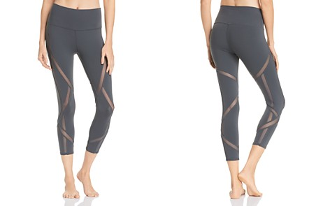 Alo Yoga Mesh-Inset Cropped Leggings - Bloomingdale's_2