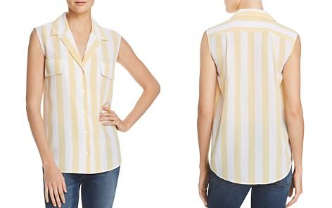 FRAME True Striped Silk Top - Bloomingdale's_2