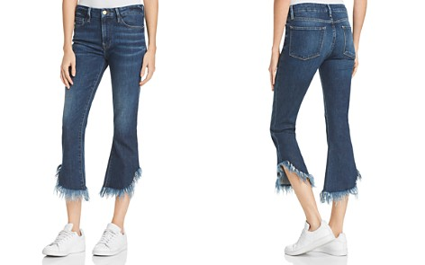 FRAME Le Crop Frayed-Hem Mini Bootcut Jeans in Bayberry - Bloomingdale's_2