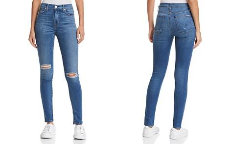 Hudson Barbara High Rise Super Skinny Jeans in Ultralight Destructed - Bloomingdale's_2
