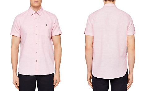 Ted Baker Peeze Two-Tone Linen Regular Fit Button-Down Shirt - Bloomingdale's_2