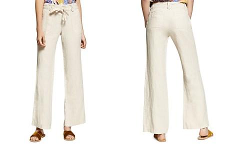 Sanctuary Short Line Wide-Leg Linen Pants - Bloomingdale's_2