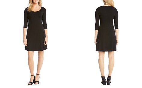 Karen Kane Three Quarter Sleeve A-Line Dress - Bloomingdale's_2