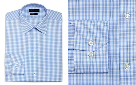 The Men's Store at Bloomingdale's Cross Check Regular Fit Dress Shirt - 100% Exclusive_2