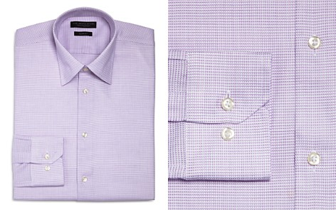 The Men's Store at Bloomingdale's Textured Nonsolid Slim Fit Dress Shirt - 100% Exclusive_2