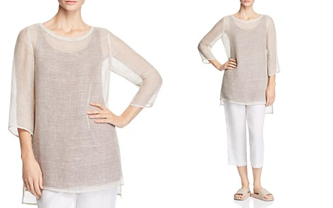 Eileen Fisher Sheer Openwork Tunic - Bloomingdale's_2