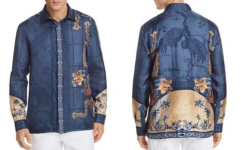 Versace Silk Woven Button-Down Shirt - Bloomingdale's_2