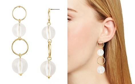 AQUA Linear Drop Hoop Earrings - 100% Exclusive - Bloomingdale's_2