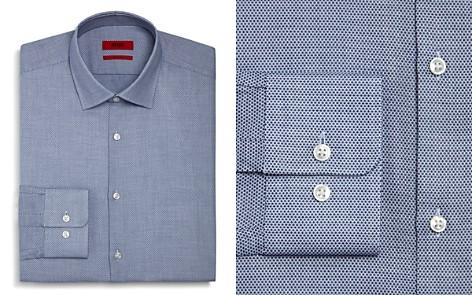 HUGO Textured Dot Regular Fit Dress Shirt - Bloomingdale's_2