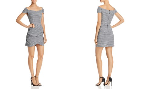 AQUA Off-the-Shoulder Gingham Dress - 100% Exclusive - Bloomingdale's_2