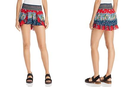 AQUA Smocked Ruffled Shorts - 100% Exclusive - Bloomingdale's_2