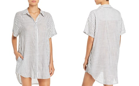 Red Carter Shirt Tunic Swim Cover-Up - Bloomingdale's_2