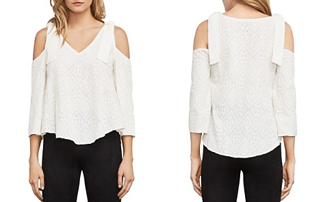 BCBGMAXAZRIA Cassia Embroidered Cold-Shoulder Top - Bloomingdale's_2