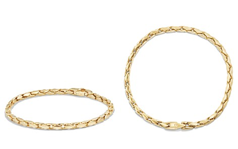 David Yurman Small Fluted Chain Bracelet in 18K Gold - Bloomingdale's_2