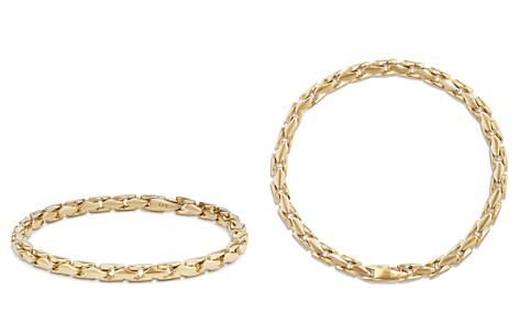 David Yurman Medium Fluted Chain Bracelet in 18K Gold - Bloomingdale's_2