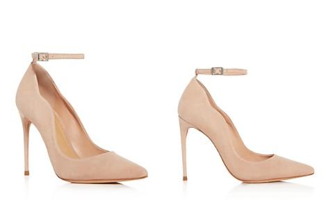 SCHUTZ Women's Thaynara Suede Ankle Strap Pointed Toe Pumps - Bloomingdale's_2