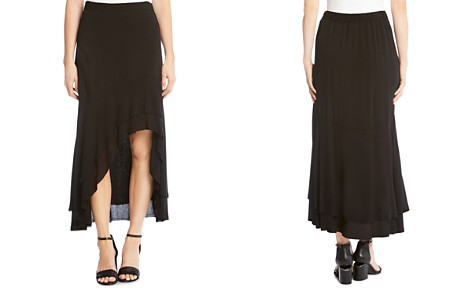 Karen Kane Tiered High/Low Raw-Hem Skirt - Bloomingdale's_2