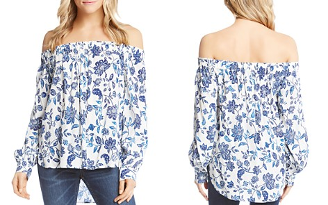 Karen Kane Floral-Print Off-the-Shoulder Top - Bloomingdale's_2