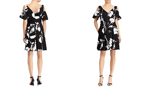 Lauren Ralph Lauren Petites Floral Sateen Cold-Shoulder Dress - Bloomingdale's_2