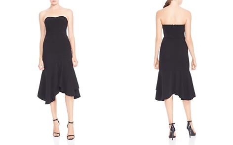 HALSTON HERITAGE Strapless Flounced Crepe Midi Dress - Bloomingdale's_2