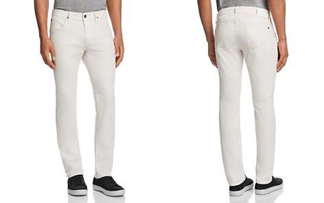 Hudson Blake Slim Straight Fit Jeans in Off White - Bloomingdale's_2