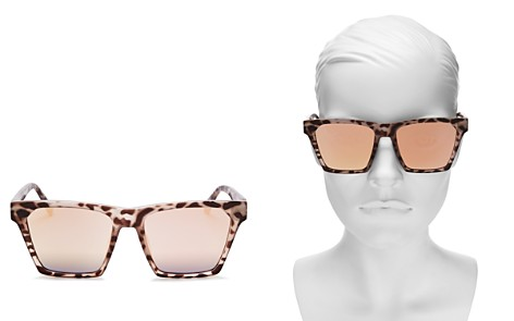 Quay Alright Mirrored Square Sunglasses, 55mm - Bloomingdale's_2