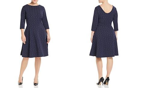 Leota Plus Circle Print Fit-and-Flare Dress - Bloomingdale's_2