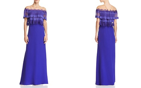 Tadashi Shoji Pleated-Bodice Illusion Gown - Bloomingdale's_2