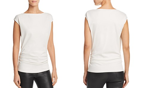 Theory Ruched Cap Sleeve Top - Bloomingdale's_2