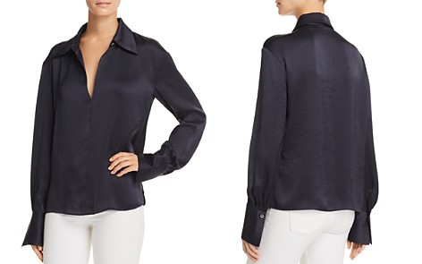 Theory Spread Collar Blouse - Bloomingdale's_2