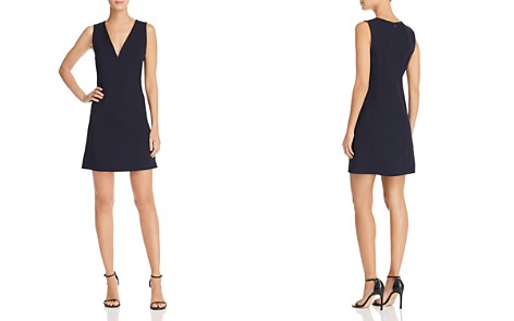 Theory V-Neck Seamed Shift Dress - Bloomingdale's_2