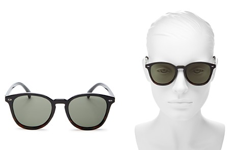 Le Specs Bandwagon Polarized Round Sunglasses, 51mm - Bloomingdale's_2