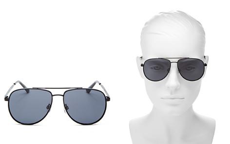 Le Specs Women's Hard Knock Brow Bar Aviator Sunglasses, 57mm - Bloomingdale's_2