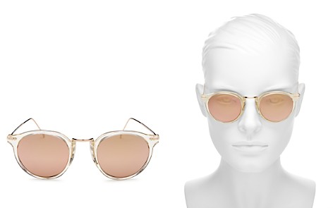 Illesteva Portofino Mirrored Round Sunglasses, 48mm - Bloomingdale's_2